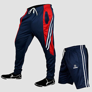 Pair Of Mens Training Tracksuits Bottom and Breathable Training Shorts-Navy