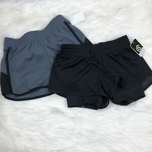 C9 Champion Shorts Women's XS LOT OF 2 New With Tags Gray Black