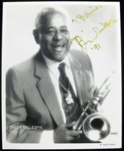 Dizzy Gillespie Hand Signed 1991 Press Photo wLetter by John Lee NICE Autograph
