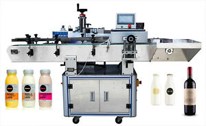 Automatic adhesive sticker round wine&Can bottle labeling machine Oval label CE