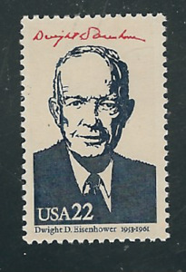 Scott # 2219g....22 Cent...Presidents Eisenhower....15 Stamps
