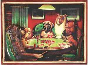Ram R168 Poker Dogs With Cigars Pub Sign 3D Art w FREE Shipping