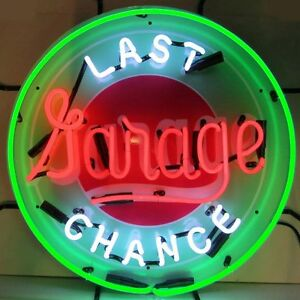 Last Chance Garage Neon Sign with Silkscreen Backing 5LASTX w FREE Shipping