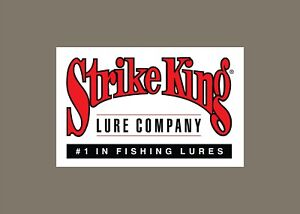 Strike King decals stickers bass boat tournament sponsor fishing lures baits