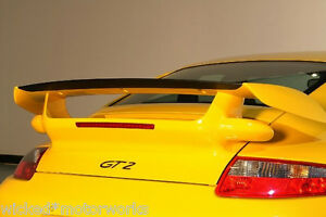 Porsche 997 Turbo GT2 Style Trunk Wing & Carbon Fiber Rear Blade