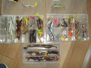 Lot Fishing Lures Crankbaits Minnow Spinner Baits Bass Tackle THREE BOXES