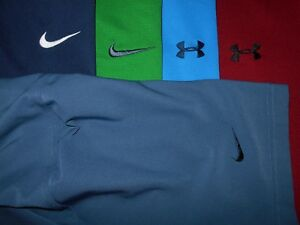 Lot 5 Under Armour Nike Dri-Fit Fit-Dry Mens Polo Shirts XL X Large 1 NWOT