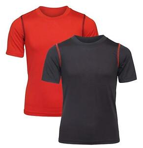 'Black Bear Boys' Performance Dry-Fit T-Shirts Black and Red Medium  8-10'