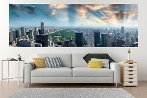 XXL Panoramic Central Park New York Skyline HD Peel & Stick Vinyl Wall Mural