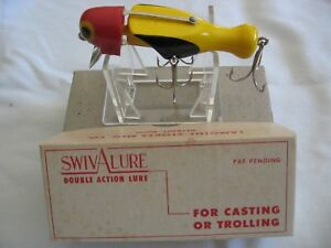 Vintage 1940's Lamothe Stokes Swivalure wBox NOS Fishing Lure Tri-Color