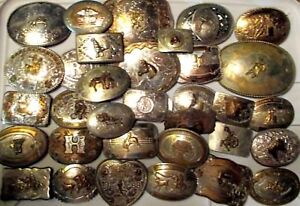 1300+ Vintage Western Belt Buckles Many Sterling Retail over $170000 Authentic!
