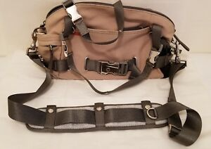 Authentic PRADA Sport Bag - Beige Canvas - Removable Straps  Multi-Pocket Italy