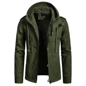 Mens Fashion Casual Zipper Hooded Jackets Coats Warm Outwear For Winter ON249
