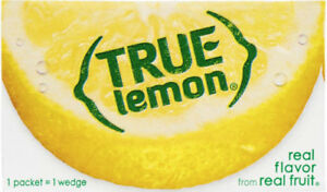 True Lemon Crystallized Lemon - 100 Bulk Pcks   -   FREE SHIPPING