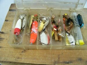 Fishing Lures Fly Fishing Spinners Weight in Plastic Case Vintage