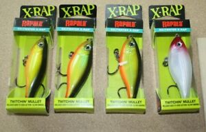 4 lot Rapala X Rap Twitchin Mullet Saltwater Fishing Lures FREE Shipping SW05