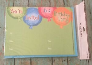 Birthday Party Invitations Balloon Invites 12 Count Package 2008 Target Cards