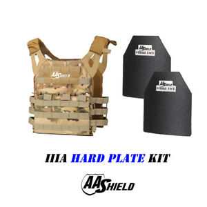 AA Shield Molle Carrier Military Tactical Vest Lvl IIIA Hard Plate KitMULTICAM