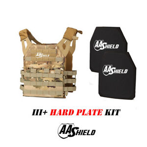 AA Shield Molle Lightweight Military Tactical Vest III Rifle Plate KitMULTICAM