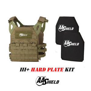 AA Shield Molle Lightweight Military Tactical Vest III Rifle Plate KitFG