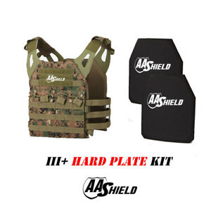 AA Shield Molle Lightweight Military Tactical Vest III Rifle Plate KitMARPAT