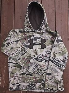 Under Armour Camo RIDGE REAPER Barren Hoodie UA Logo Hooded Fleece Youth XL