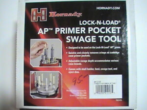HORNADAY AP PRIMER POCKET SWAGE TOOL 41218 FREE SHIPPING