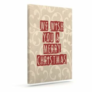 East Urban Home 'We Wish You a Merry Christmas' Textual Art on Canvas