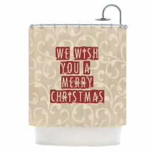 East Urban Home We Wish You a Merry Christmas Single Shower Curtain