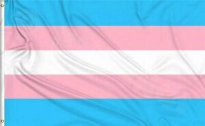 Transgender Pride Flag 3x5ft with Grommets LGBTQIA Trans Pride