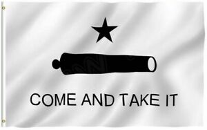 3x5 Texas Gonzales Gonzalez Come and Take It Cannon Flag 3#x27;x5#x27; Banner grommets