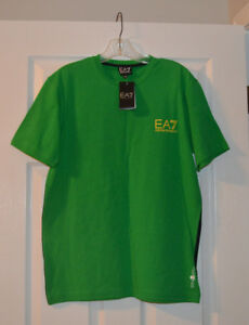 New Emporio Armani Men's Green Short Sleeve T-Shirt Size L
