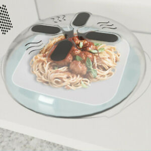 Food Splatter Guard Microwave Hover Anti-Sputtering Cover with Steam Vent Safety