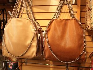 Chain accented handbag Inspired By Stella McCartney falabella design brand new