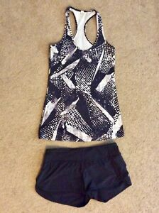 Lululemon Speed shorts and Cool racerback top size 6