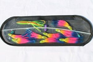18-inch Flexible Spreader Bar w RAINBOW Squids Hook Lure and Storage Bag