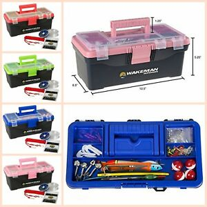 Fishing Tackle Box Full 55 Piece Tackle Kit Fishing Equipment Outdoor Camping