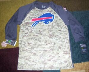 NIKE Dry Legend BUFFALO BILLS CamoCamouflage SALUTE TO SERVICE Dri Fit SHIRT L