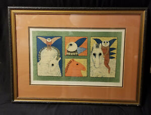 Equestrian Owls by Carol Jablonsky: Signed & Artist Proof Lithograph