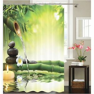 Poseca Curtain shower Print 3D Design Polyester Resistant mold 72 ×72