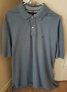 Tommy Hilfiger polo for men size xxl in grey color. $12.00