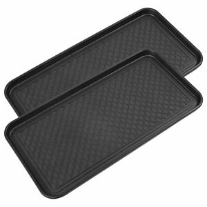 Pack of 2 Multi-Purpose Black Boot Mat & shoe tray for indoor & outdoor