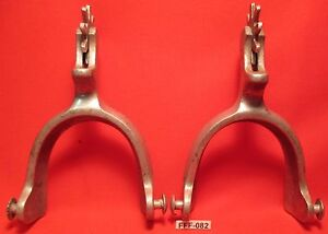 NICE Old USA Made FORM FITTER RICARDO Marked Aluminum Cowboy Spurs