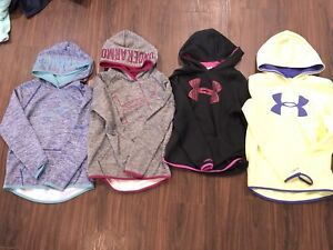 4 Girls Under Armour Hoodie Lot Youth medium