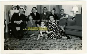 1949 Photo Jones Family on Christmas Day Baltimore Maryland MD Little Boy etc.