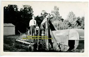 1949 Photo Virginia VA Oliver Farm Equipment Baler? Roland Winstead Steve Jones