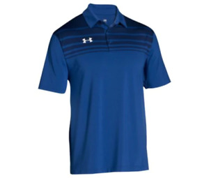 New Under Armour Big and Tall Logo Golf Polo Shirt 4XL 4X XXXXL Royal Blue