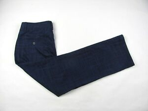 UNDER ARMOUR Mens Navy Black Polyester Flat Front Golf Pants Trousers 3430