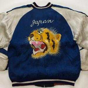 Sukajan Souvenir Jacket 1950's Vintage Rare Reversible From JAPAN F/S