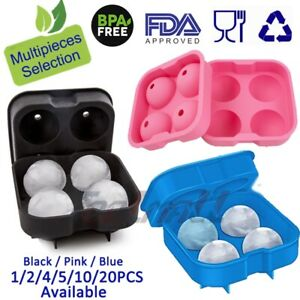 Lots ICE Balls Maker Round Sphere Tray Mold Cube Whiskey Ball Cocktails Silicone